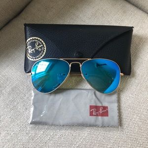 Ray-Ban blue lens Aviators.